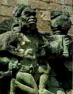 El dios de la tormenta ( Fuente: A. Ciudad, Los mayas, col. biblioteca iberoamericana, Anaya, Madrid, 1988. p. 118)